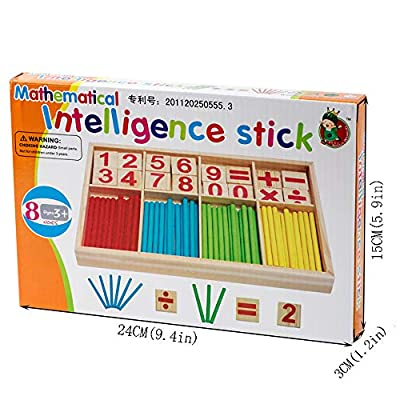 Montessori Mathematics Math Teaching Aids Toys Color Number Stick Preschool Education Materials: Toys & Games