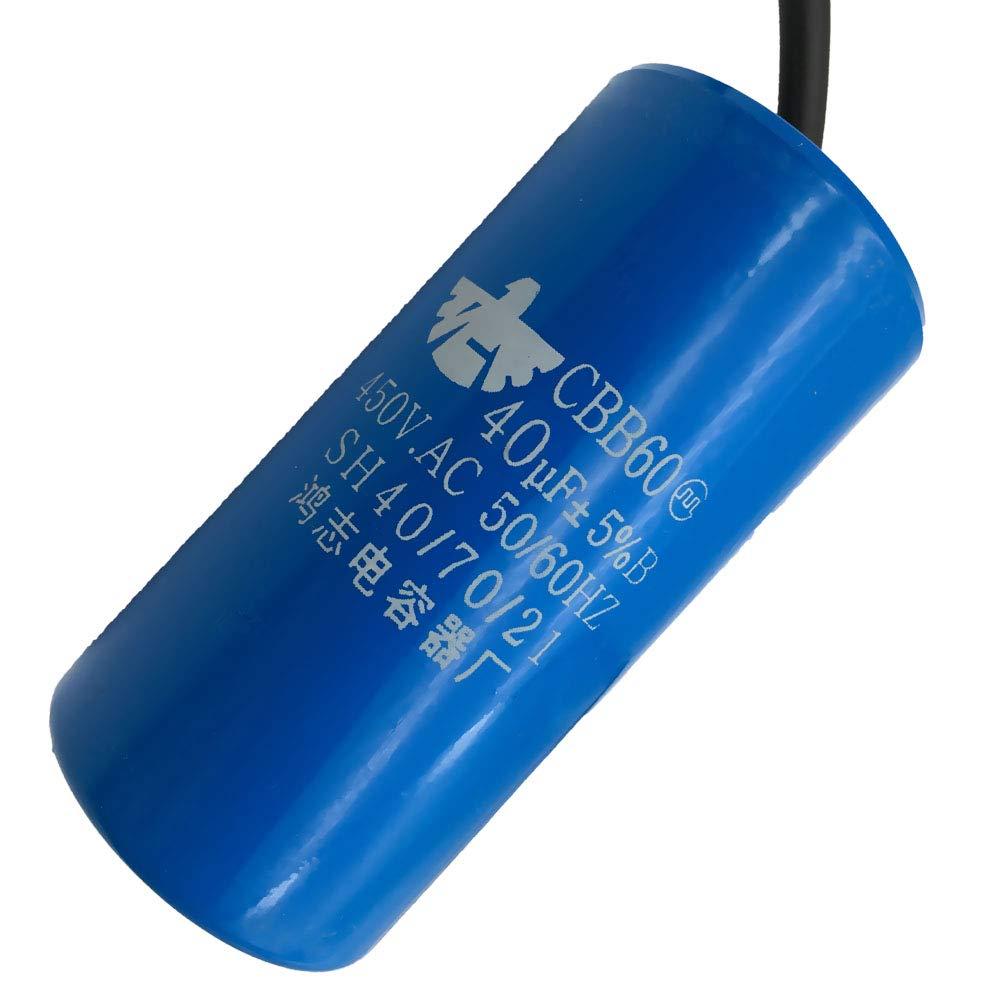 Motor capacitor 40 uf//450v ca long high strength quality new