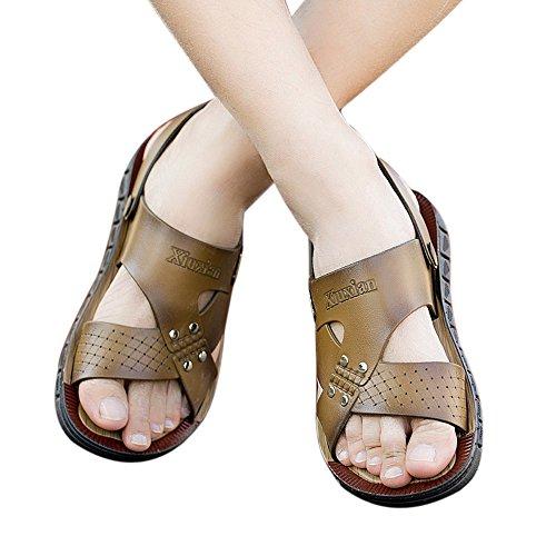 Birko Sandali Comodi con Madrid Forma Bufalo Ortopedica Unisex Flor Classic Adulto Kahki Uomo da Brown Infradito Vera Sandali Styledresser Scarpe Calzature Pelle Uomo di UXSxqtwWf