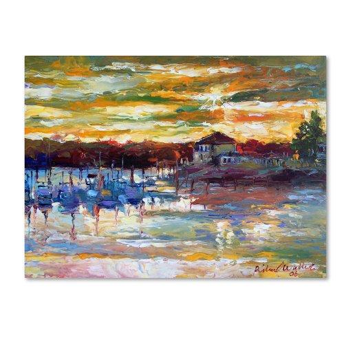Saco 10 by Richard Wallich, 24x32-Inch Canvas Wall Art (Wall Boat Art Docks)