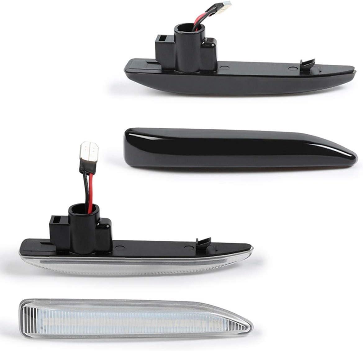 Emitting Color : Black ROYAL STAR TY 2 PCS LED Side Marker Indicator Repeater Light Turn Signal Light Panel Lamp Blinker for BMW E65 E66 E67 2001~2008
