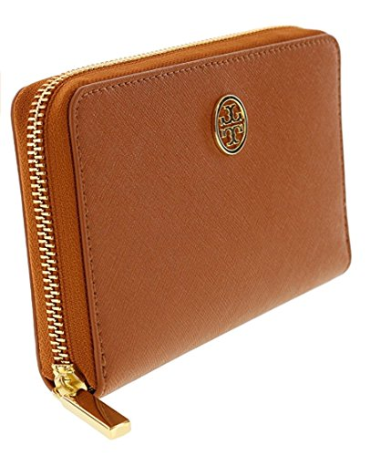 Tory Burch Robinson Mini Continental Saffiano Leather Wallet, Style No 34411 (Luggage) by Tory Burch (Image #1)