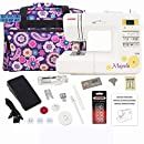 Janome 7330 Computerized Sewing Machine Bundle with Purple Tote, One 10-Pack Janome Bobbins, One Pack Size 14 Needles by Janome