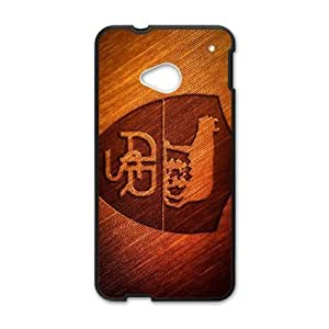 Plastic Case Nlutyh HTC One M7 Cell Phone Case Black As Roma Logo Generic Design Back Case Cover
