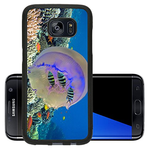 Liili Premium Samsung Galaxy S7 Edge Aluminum Backplate Bumper Snap Case Shoal of fish and giant jellyfish IMAGE ID 14646865