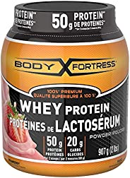 Body Fortress 100% Premium Whey Protein Strawberry Powder