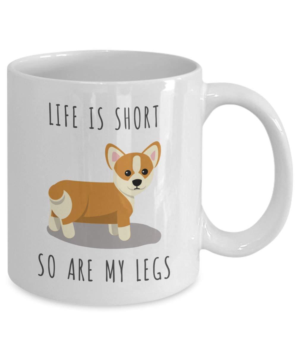 life is short so are my legs corgi coffee mug pembroke welsh corgi gifts corgi coffee cup for. Black Bedroom Furniture Sets. Home Design Ideas