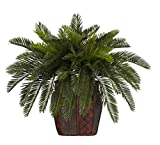 SKB Family Double Cycas w/Vase Silk Plant beautiful wonderland cheerful decorative