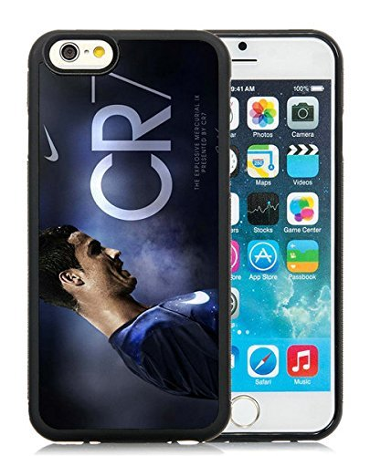 Soccer Player Cristiano Ronaldo(3) Black iPhone 6 4.7 inch TPU Cellphone Case Unique and Fashion Cover