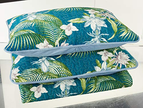 Tommy Bahama Southern Breeze Quilt Set, Full/Queen, Dark Blue (Tommy Bedding Sets)