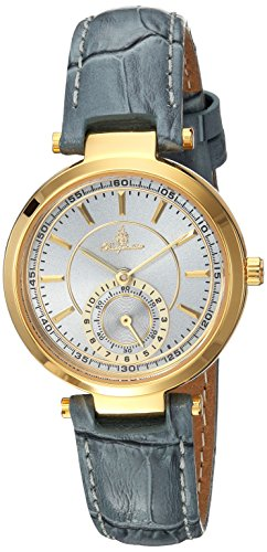 Burgmeister Women's Quartz Metal and Leather Casual Watch, Color:Grey (Model: BM336-286)