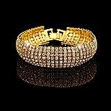 Superhai Fashion Rhinestone Bracelet Golden - Best Reviews Guide