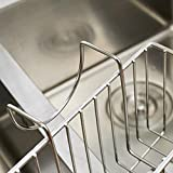 AHYUAN Kitchen Sink Caddy Stainless Steel Brush