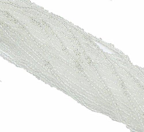 - Crystal Clear Transparent Czech 8/0 Glass Seed Beads 1 Full 12 Strand Hank Preciosa Jablonex