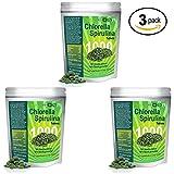 Chlorella Spirulina 50/50-Mega-pack 1000 Tablets! Best Organic raw Non-GMO Green Superfood (3-Pack)