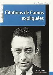 Citations de Camus expliquées