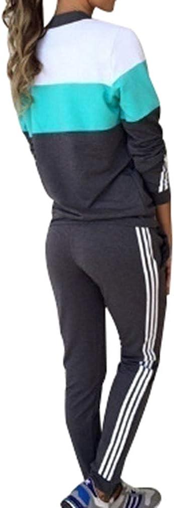 MEIHAOWEI Frauen Trainingsanzug Set Laufen Radfahren Sport Fitness Anz/üge Activewear Sportswear Loungewear Freizeitanzug