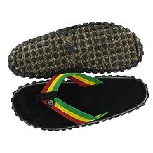 Bob Marley Fresco Men's Flip Flops Sandals Rasta Print Size 10