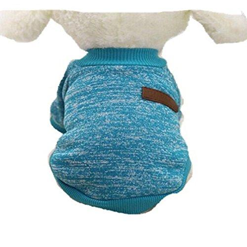 Blue Coat K9 (Pet Apparel HCFKJ Pet Dog Puppy Classic Sweater Fleece Sweater Warm Sweater Winter (S, Blue))