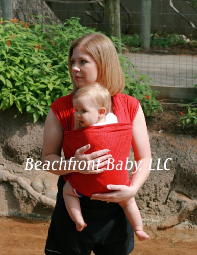 Beachfront Baby Wrap – The Versatile Water & Warm Weather Baby Carrier | Made in USA with Safety Tested Fabric, CPSIA & ASTM Compliant | Lightweight, Quick Dry & Breathable (Tropical Punch, X-Long) (Tpx Mesh)