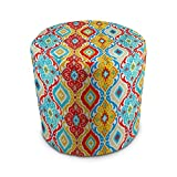Stratford Home Eco Friendly Outdoor Decorative Pouf Ottoman (Fresca Fiesta) Made in America