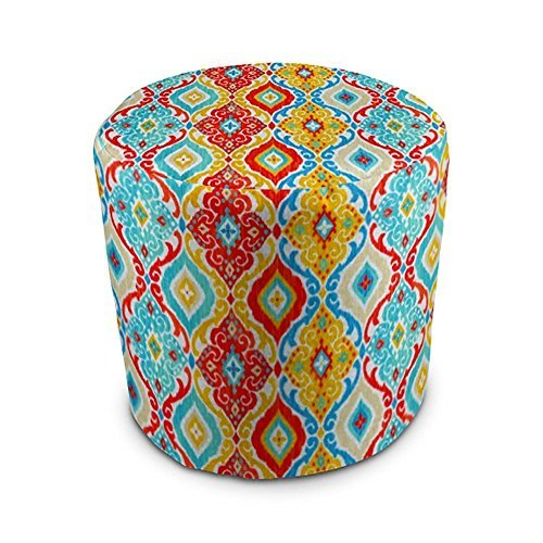 Stratford Home Eco Friendly Outdoor Decorative Pouf Ottoman (Fresca Fiesta) Made in America For Sale