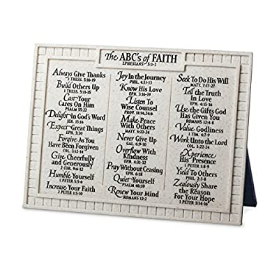 "Lighthouse Christian Products Small ABC's of Faith Desktop Plaque, 8 x 6"" by Lighthouse Christian Products"