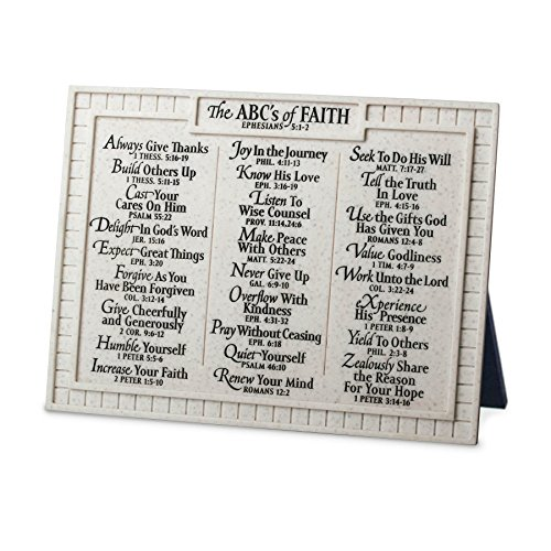 Lighthouse Christian Products Small ABC's of Faith Desktop Plaque, 8 x 6'' by Lighthouse Christian Products