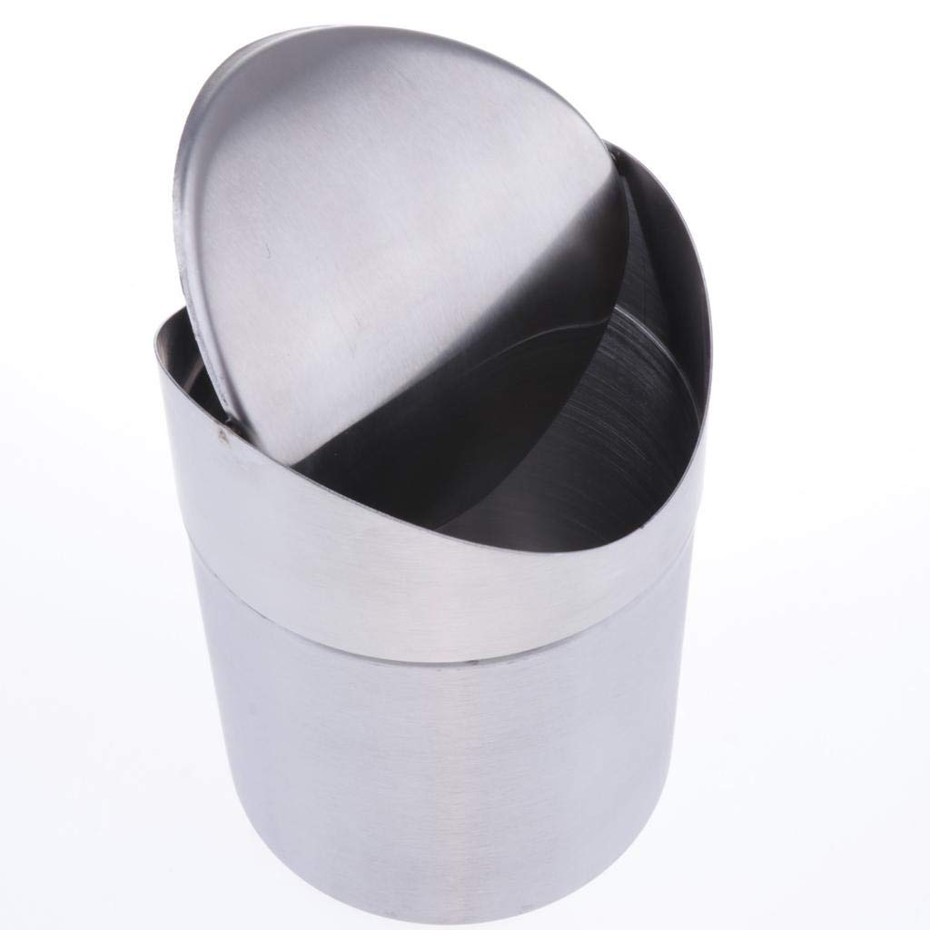 Small Tiny Countertop Trash Bin Can for Office Bathroom Kitchen Car Flameer Mini Trash Can for Desk with Lid Desktop Trash Can Waste Basket
