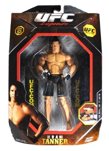 Jakks Pacific Year 2009 Series 1 Ultimate Fighting Championship UFC 51 Legends Collection 7-1/2 Inch Tall Action Figure - EVAN TANNER by UFC