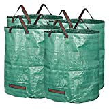 GardenMate 4-Pack 72 Gallons Reusable Garden Waste Bags (H30, D26 inches) - Yard Waste Bags