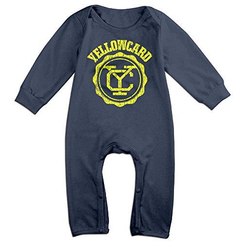 Dara Yellowcard Band Logo Newborn Babys Long Sleeve Romper Bodysuit Outfits Navy 6 (Diy Hoop Skirt Costume)
