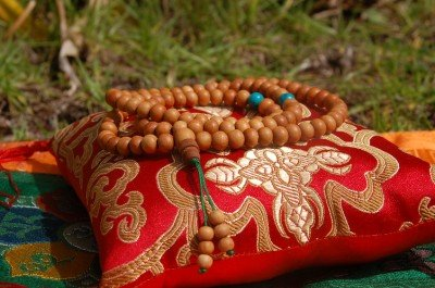 Sandalwood Beads Turquoise Spacers Meditation