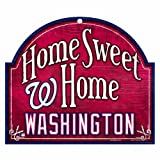"MLB Washington Nationals 10-by-11 Inch Wood ""Home Sweet Home"" Sign"