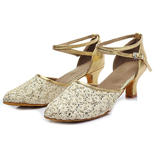 Shoes Ballroom HROYL Samba Gold 5cm MF1802 6 Modern Model Chacha Latin Glett Women Dance Leather Shoes Dance UqURY