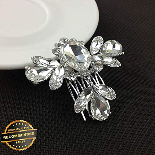 Gatton Premium New Women Crystal Rhinestone Pearl Hairpin Flower Hair Clips Comb Wedding Jewelry | Style HRCL-M182012325