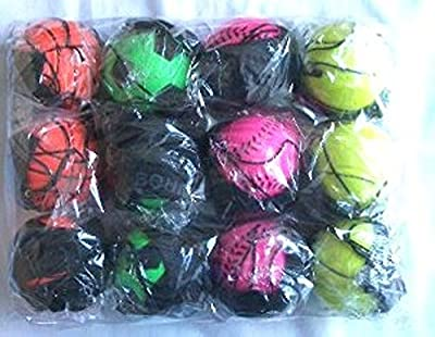 12 pcs Return Rubber Sport Ball on Nylon String with Wrist Band For Exercise or Play by itisyours
