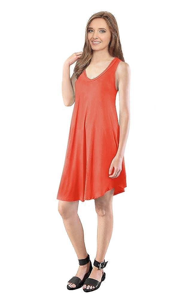 6d93df1403f Simlu Womens T Shirt Dress Flowy Tank Dresses