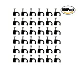New Accessbuy RG6 Cable Clip with Steel Nail Black 100 Pack 6mm