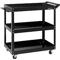 Giantz 3-Tier Tool Cart on Wheels-Black