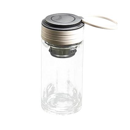 Nueva manera de la llegada vasos botella de agua de cristal creativa de vidrio con 250