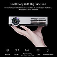 NEWPAL Mini DLP Android Projector 500 ANSI Lumens LCD Projector 1280X800p Support 3D HDMI Portable Wireless Beamer Projector