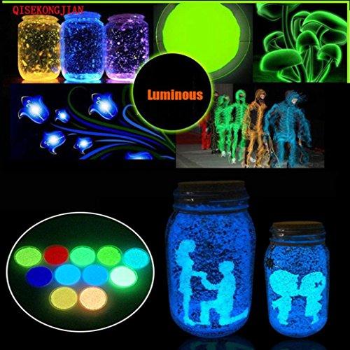 ous Sand, 3 Bag Glow in The Dark Aquarium Fluorescent Particle Fish Tank Decoration ()