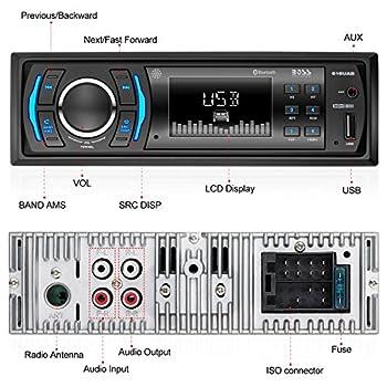 Boss Audio 616uab Car Stereo, Single Din, Bluetooth, Usbmp3wma Amfm Radio 12