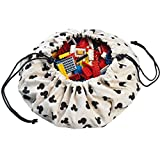 """Play&Go Mini Children Disney Play Mat and Toy Organizer Storage 16"""" Bag - Portable Container for Storing Kids Toys - Mickey"""