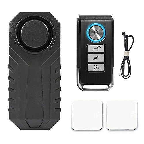 ZREAL 113dB Wireless Anti-Theft Vibration Motorcycle Bicycle Waterproof Security Bike Alarm with Remote 1hd2aq9ed3fx3ge0