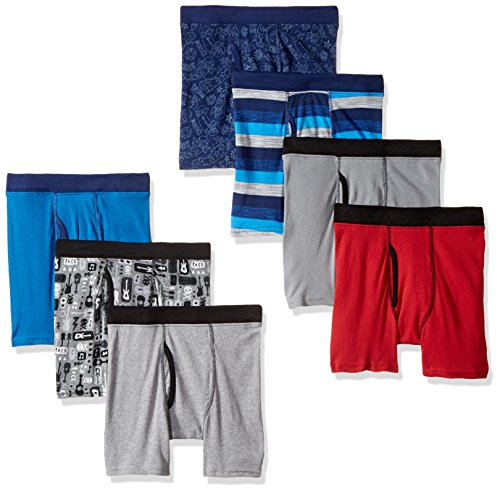 Hanes Boys' ComfortSoft Printed Boxer Briefs, assorted X ()