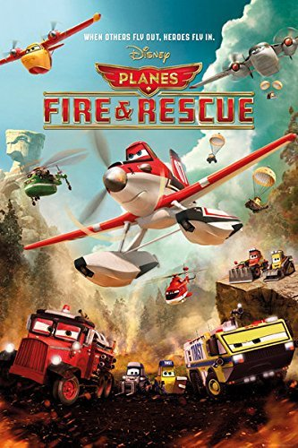 Planes: Fire & Rescue - Disney / Pixar Movie Poster / Print Action by