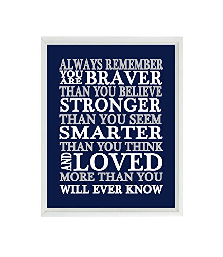 Amazoncom Always Remember You Are Braver Than You Believe Quote