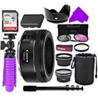 12 PC Accessory Kit with Canon EF 50mm f/1.8 STM Lens